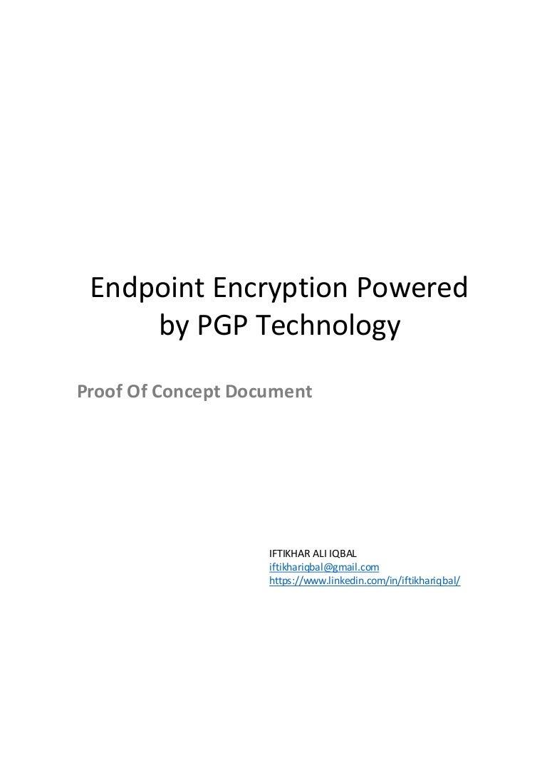 Symantec Endpoint Encryption Proof Of Concept Document