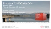 TechEvent Exdata X7-2 POC with OVM