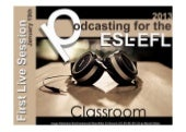 Podcasting for the ESL/EFL Classroom 2013 - Live Session Week 1