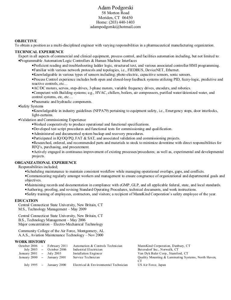 Podgorski Resume Engineer