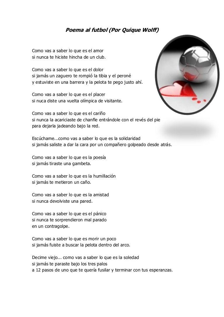 Poema Al Futbol