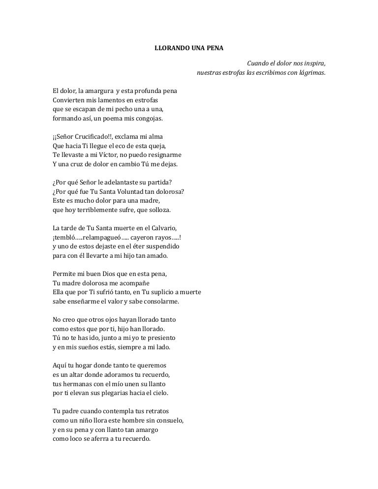 la pérdida del padre de un niño poemas