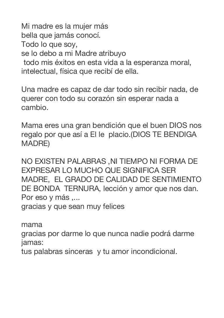 Gracias Madre Poemas poemas dia de la madre