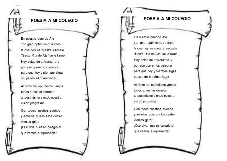 Poesia a mi colegio for Memoria descriptiva de un colegio