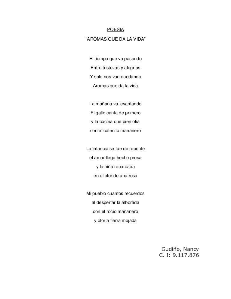 Poesia Aromas Que Da La Vida