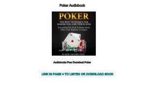 Audiobooks Free Download Poker