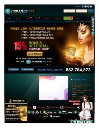 AGEN POKER - Daftar Judi Poker Online indonesia terpercaya