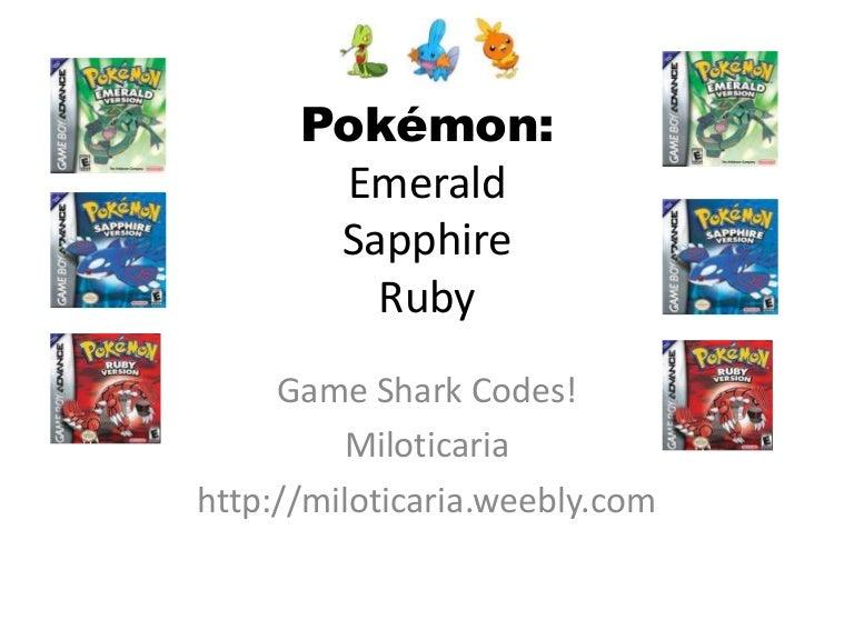 pokemon sapphire gameshark codes - 768×576