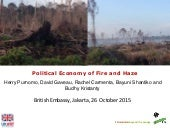 Political Economy of Fire and Haze