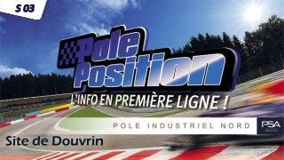 Pôle Position Semaine 03/2018