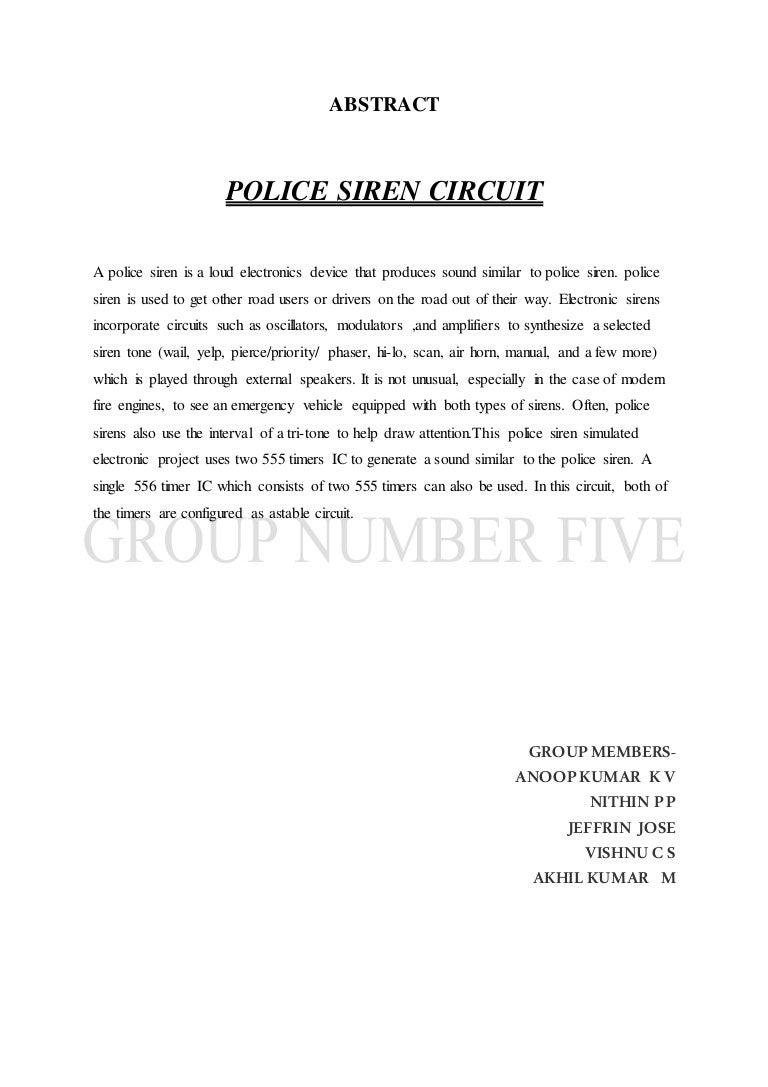 Police Alarm 555 Timer Photo Circuit