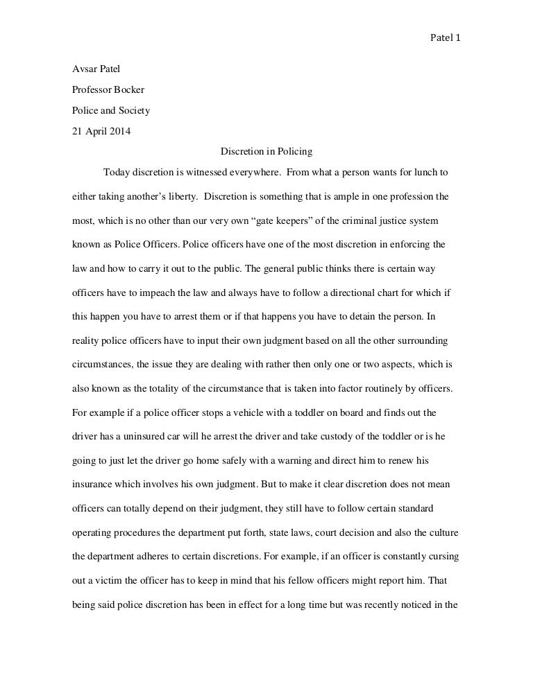 law enforcement essay example