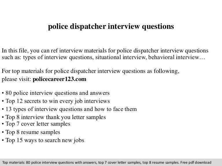 High Quality SlideShare With 911 Dispatcher Interview Questions