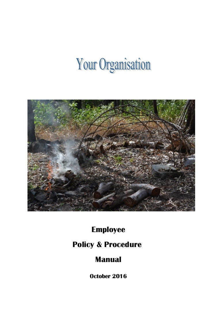 policy procedure manual sample