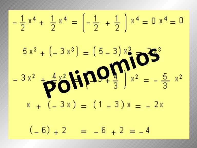 Resultado de imagen para polinomios