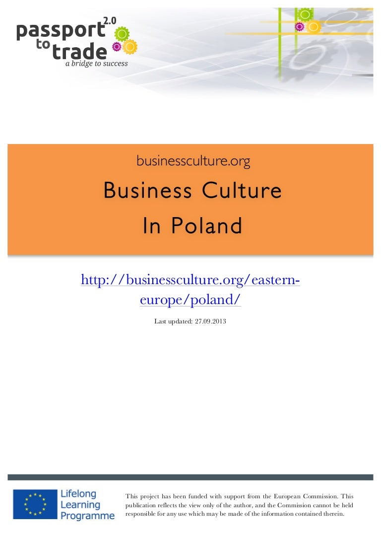 Polish Business Culture Guide Learn About Poland