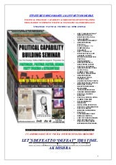 Political  Strategic Capability Building Training Programme @ http://politicalconsultant.net.in