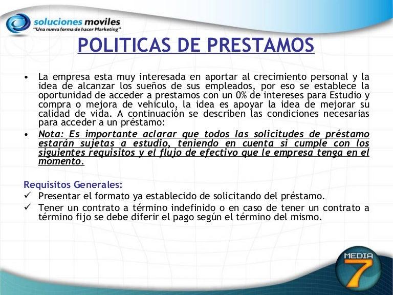 Politicas De Prestamos