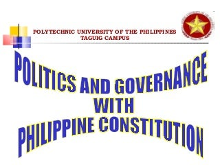Politics And Governance With Phil. Constitution boa