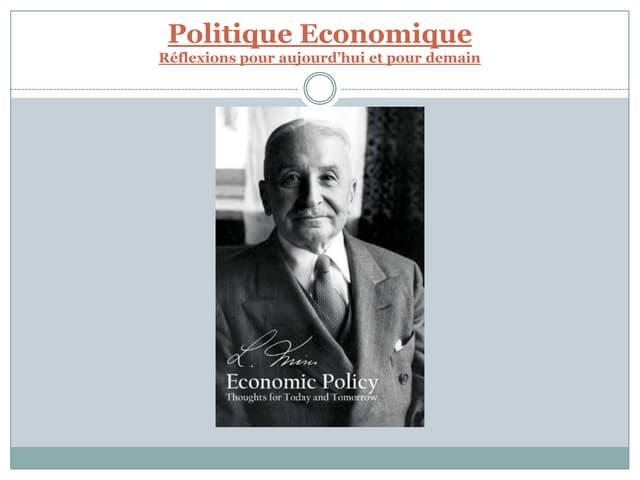 Mises-Politique economique par wang monroche trupel