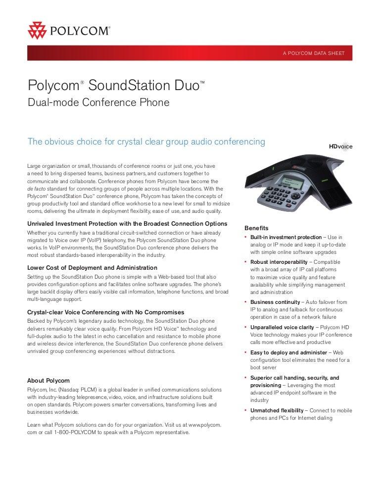 Polycom soundstation duo data sheet