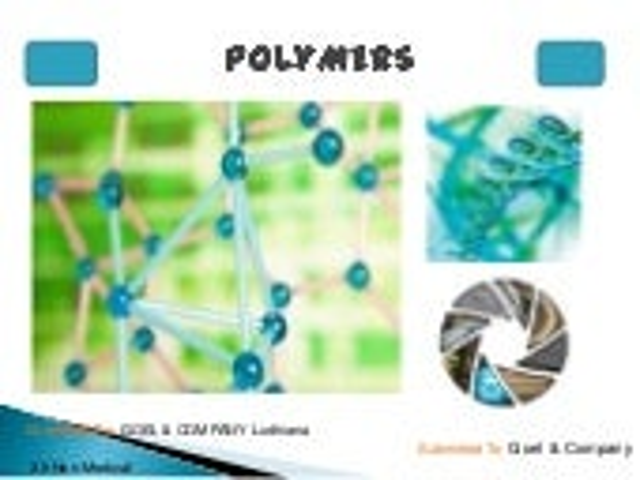 Polymers (by goel & company ludhiana)