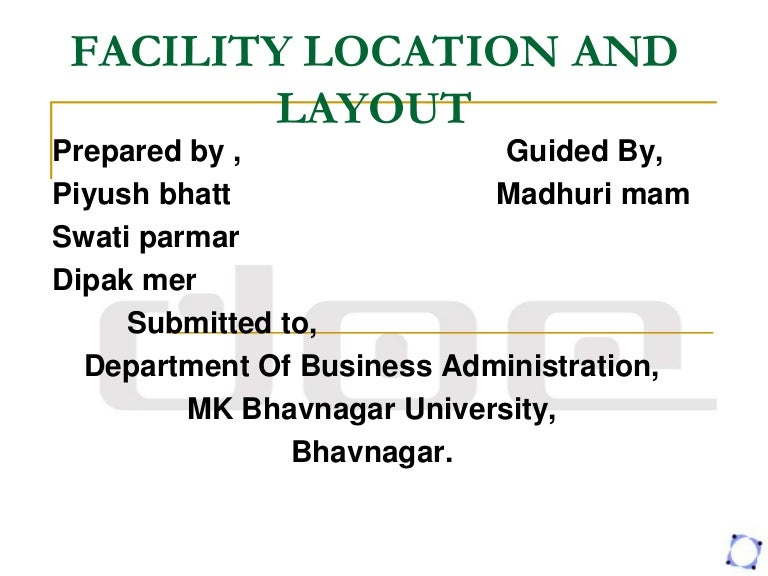 facility location and planning layout rh slideshare net Manual Layout Templates Instruction Manual Template