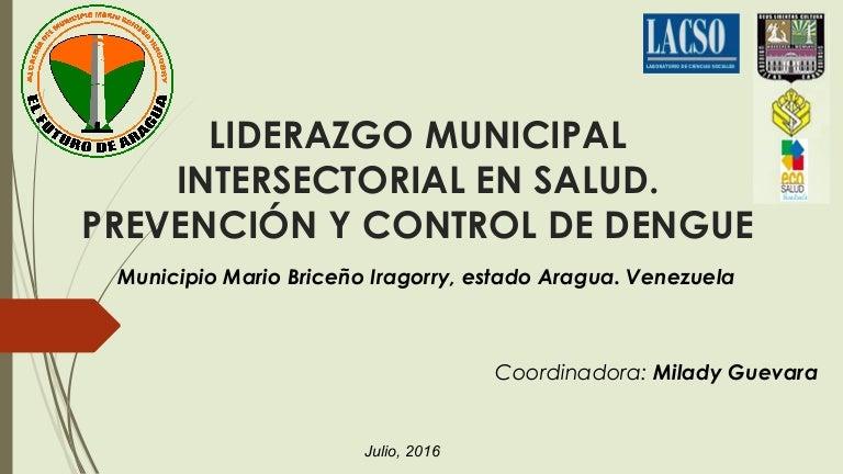 Liderazgo intersectorial en salud en el municipio Mario Briceño Irago…