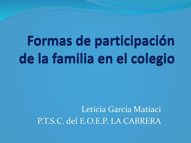 Participación Familias en la Escuela