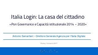 PON Governance - Progetto Italia Login: La casa del cittadino