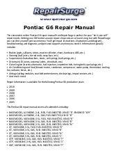 pontiac g6 2005 2010 service repair manual rh slideshare net 2006 pontiac g6 gt coupe owners manual 2006 pontiac g6 user manual
