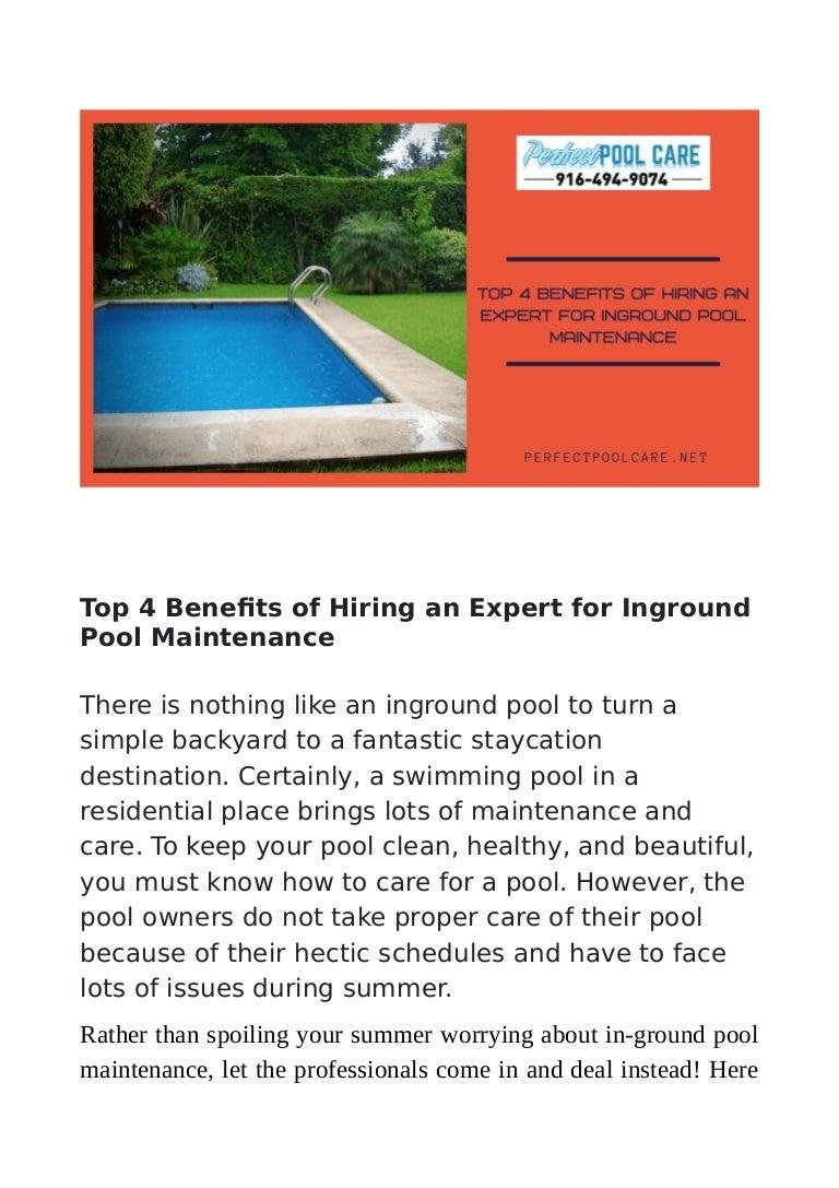 Top 4 Benefits of Hiring an Expert for Inground Pool ...