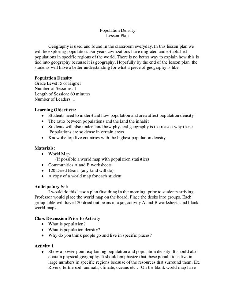 Worksheets Population Density Worksheet population density