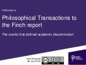 Philosophical Transactions to the Finch report: the events that have defined academic dissemination