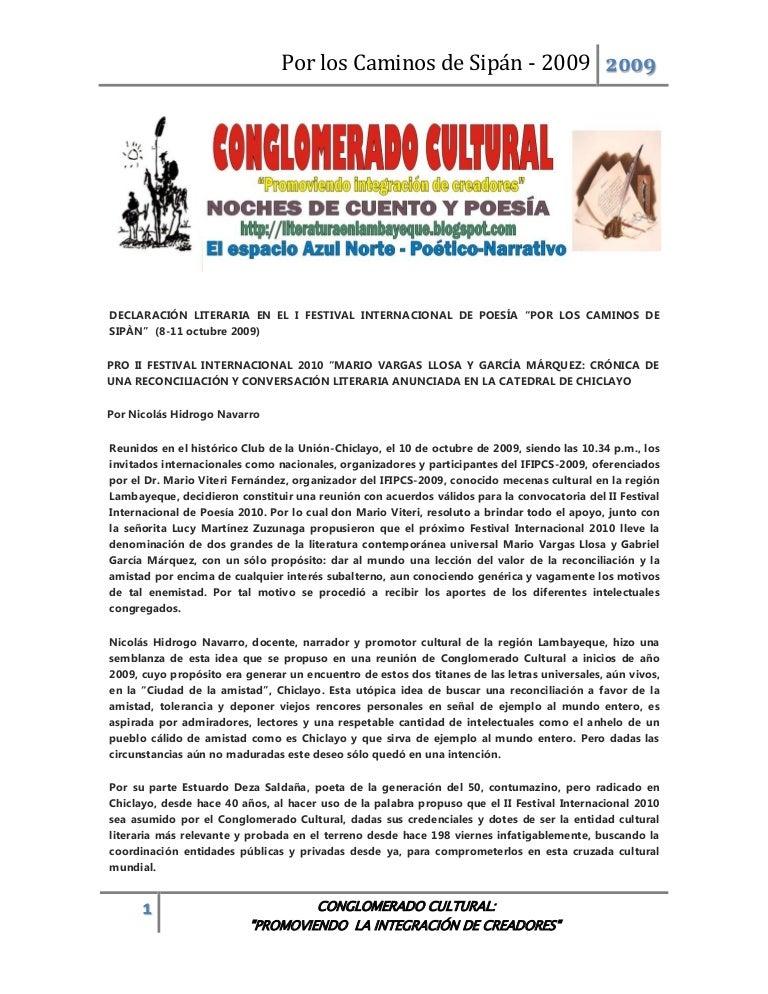 Poesía: Por los Caminos de Sipán 2009..