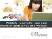 Portability - Meeting the Training and Information Needs of the Mobile Workforce