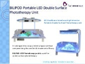 Portable LED Double Surface Phototherapy unit