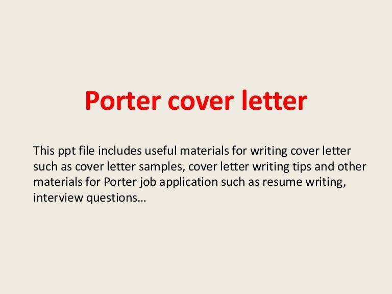 Resume Sample Cover Letter Porter Cover Letter Sample Career Diamond Geo  Engineering Services Top Porter Job