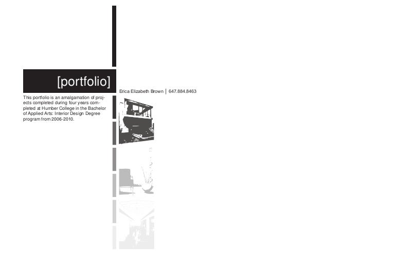 professional portfolio title page