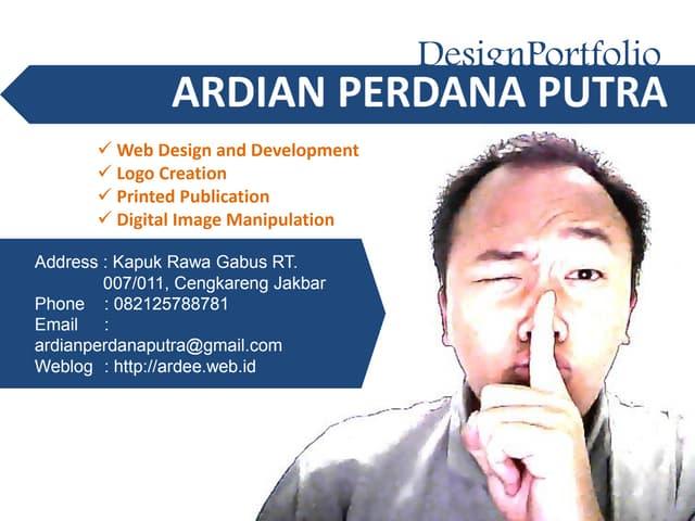 Portfolio Ardian Perdana Putra 20150702