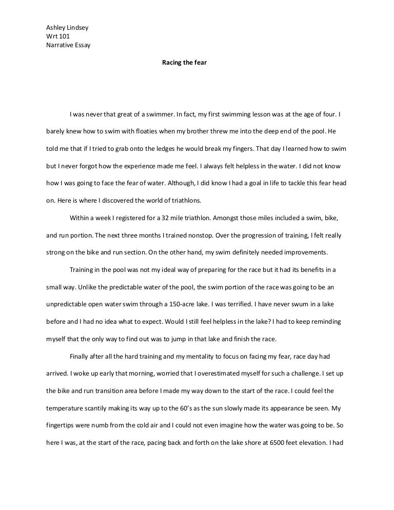 narrative essay on fear