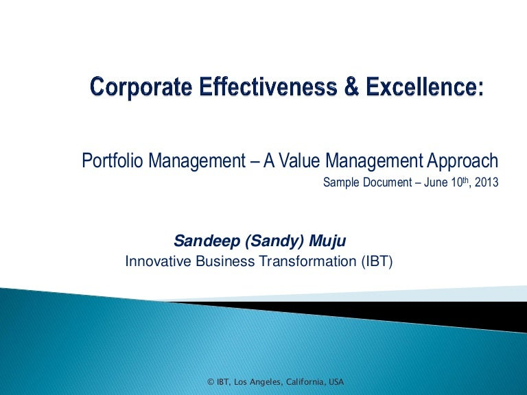 Portfolio Management Sample