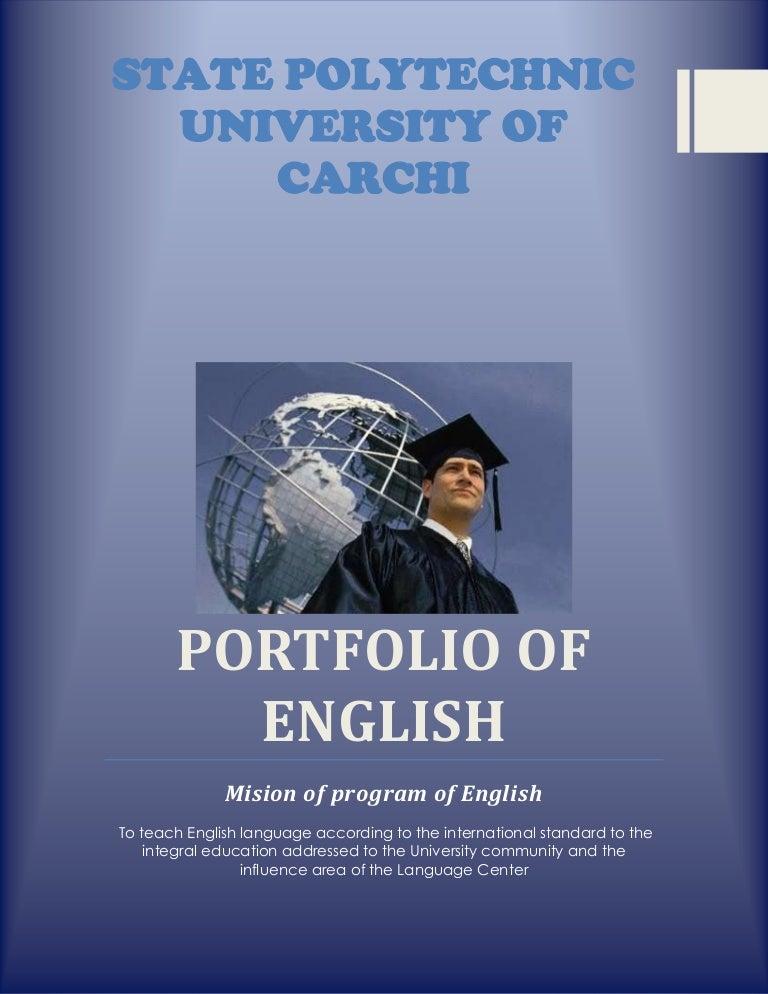 Portfolio Of English Level Sixth