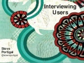 User research: Uncovering compelling insights through interviews