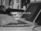 Digital scholarship - all day workshop