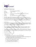 IAP2 administrative assistant, training