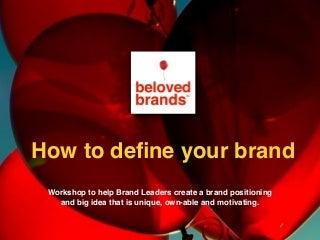Brand Positioning Workshop