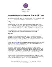 Position Paper 7: Cupcake Digital: A Company That Builds Trust