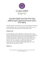 Position Paper 8:  Cupcake Digital Launches First App Addressing An Important Social Cause: Fire Safety