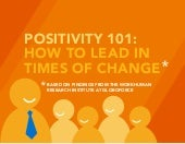 Positivity 101: How to Lead in Times of Change